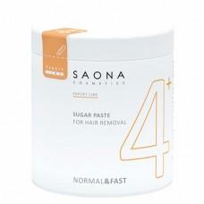 Сахарная паста для шугаринга Saona Cosmetics 4+ Normal&Fast Нормальная Не требует разогрева